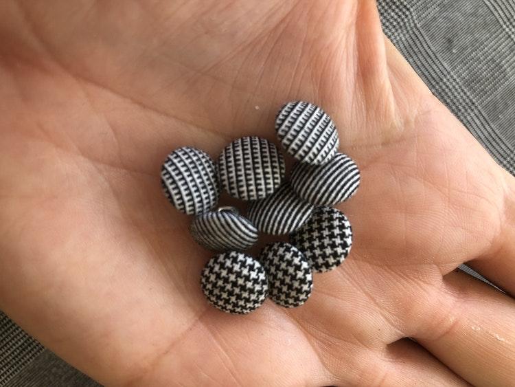Klädda Knappar 10 mm