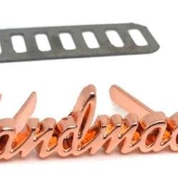 """Metalltag """"Handmade"""" Skrivstil"""