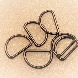 D-ring 20 mm tunn Helgjutna