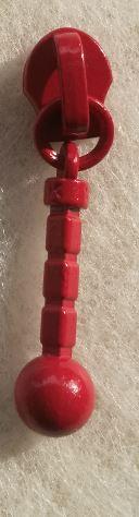 Färgad kläpp: Stel pinne med kula