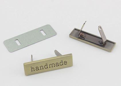 "Metalltag ""Handmade"""