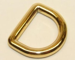 D-ring 20 mm - 3/4 inch Helgjutna