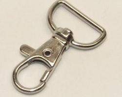 Karbinhake nyckelband 19 mm  -  3/4 inch