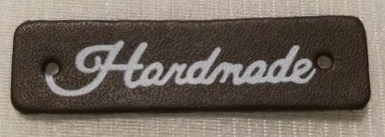 Handmade märke/label i fuskskinn