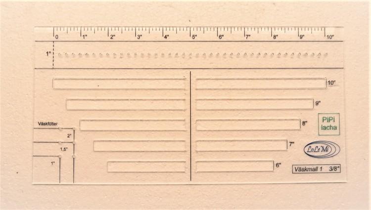 Väskmall 1: 3/8 inch