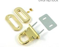 Fliplås - Oval flip lock Emmaline
