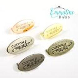 "Metalltag ""Custom made"" Emmaline bags"