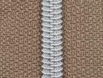 Dragkedja Nr 5  -Silverspiral i 27 färger