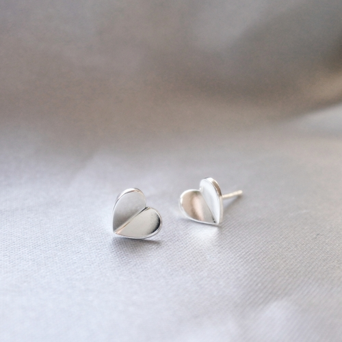 """Lucky Heart"" Earrings in silver"