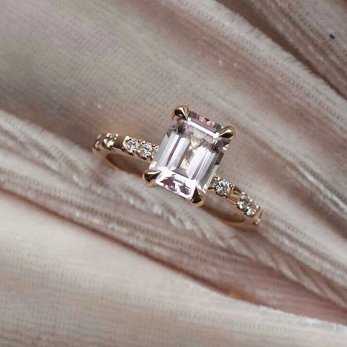 """Venus Sparkle"" with a Morganite & ten TW/VS Diamonds"