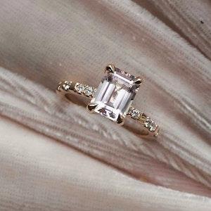 """Venus Sparkle"" with a Morganite & ten TW/VS Diamonds"