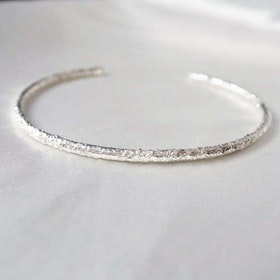 """Frost"" bangle in silver"