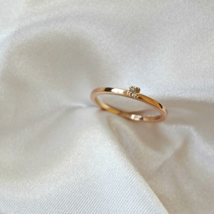"""Stardust"" Ring in gold, choose gemstone"