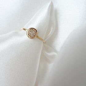 """Milkyway"" ring in gold, choose gemstones"