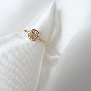 """""""Milkyway"""" ring in gold, choose gemstones"""