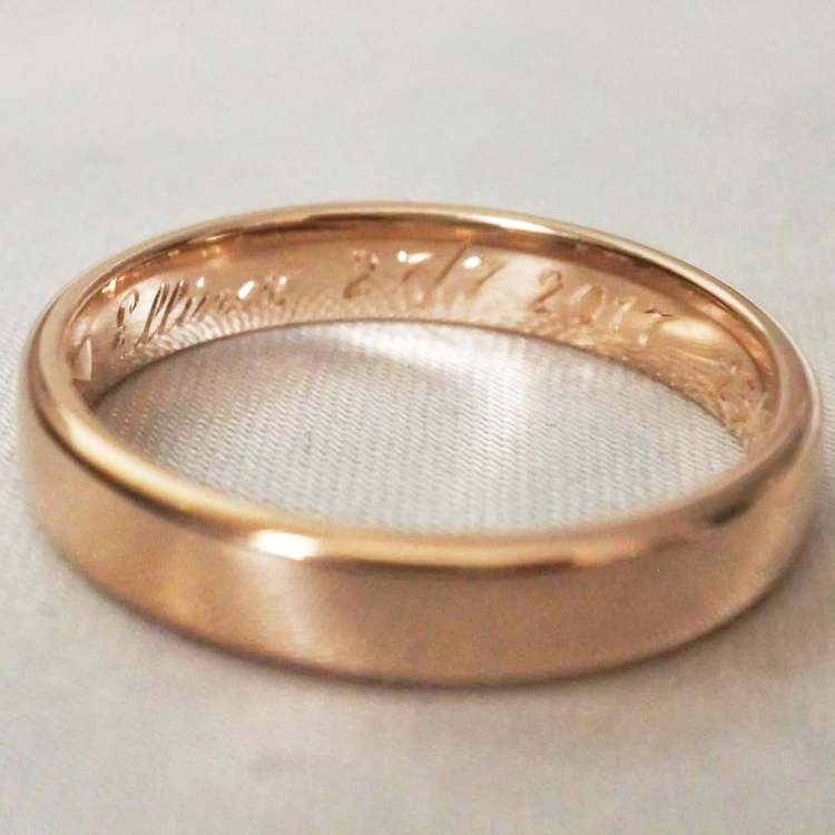 Ring engravings (made by hand)