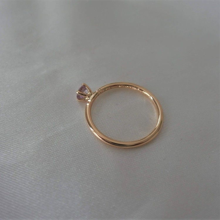 """Bellatrix"" ring in gold with a light pink sapphire & diamonds"