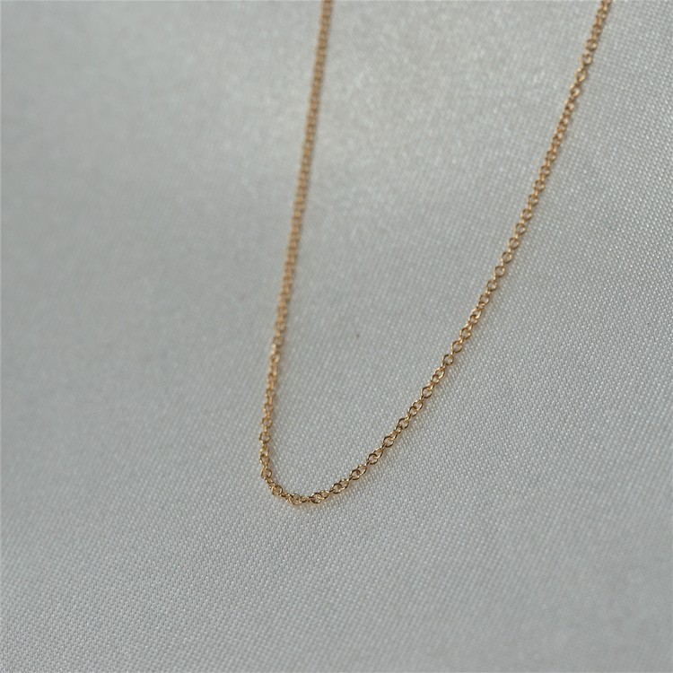 """Anchor super thin"" gold chain 42-45cm"