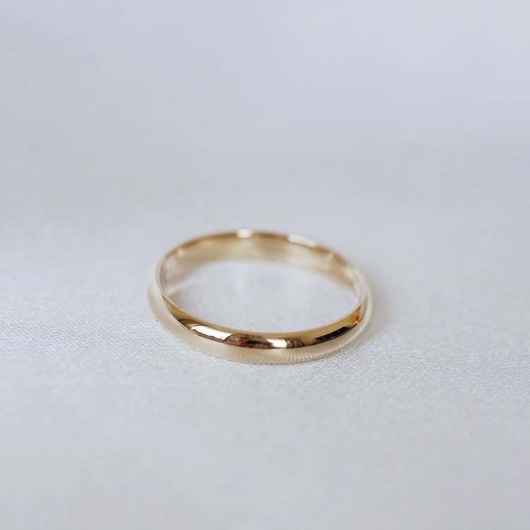 """""""Castor"""" 3.5mm gold ring"""