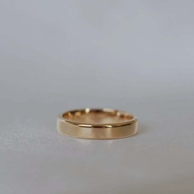 """Uranus"" 4mm gold ring"