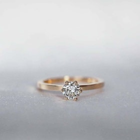 """North Star"" ring with a 0.50ct W/SI diamond"