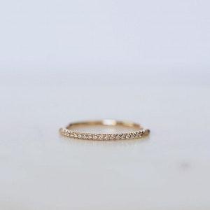 """Aurora Super Sparkle"" ring in gold, choose gemstones"