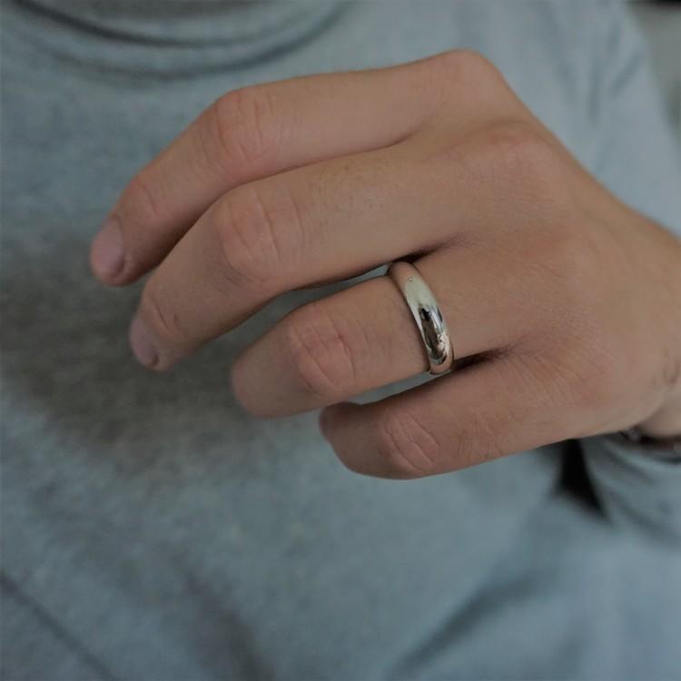 """""""Castor"""" 5mm gold ring"""