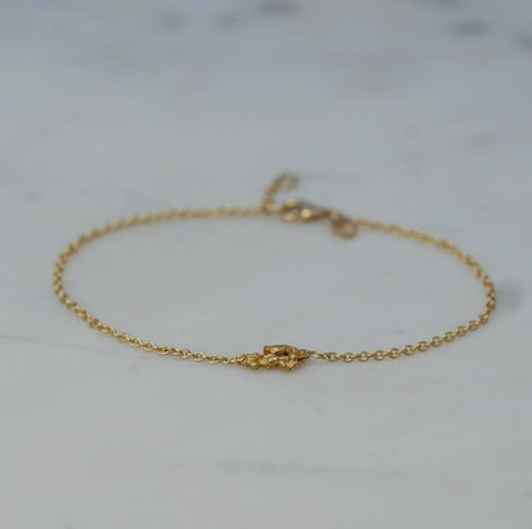 """Nugget"" bracelet in gold"