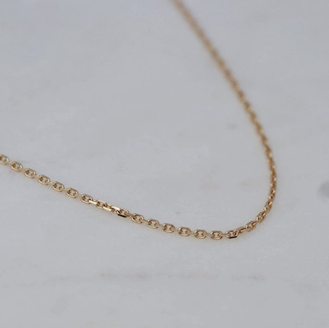 Gold chain faceted 45-50cm