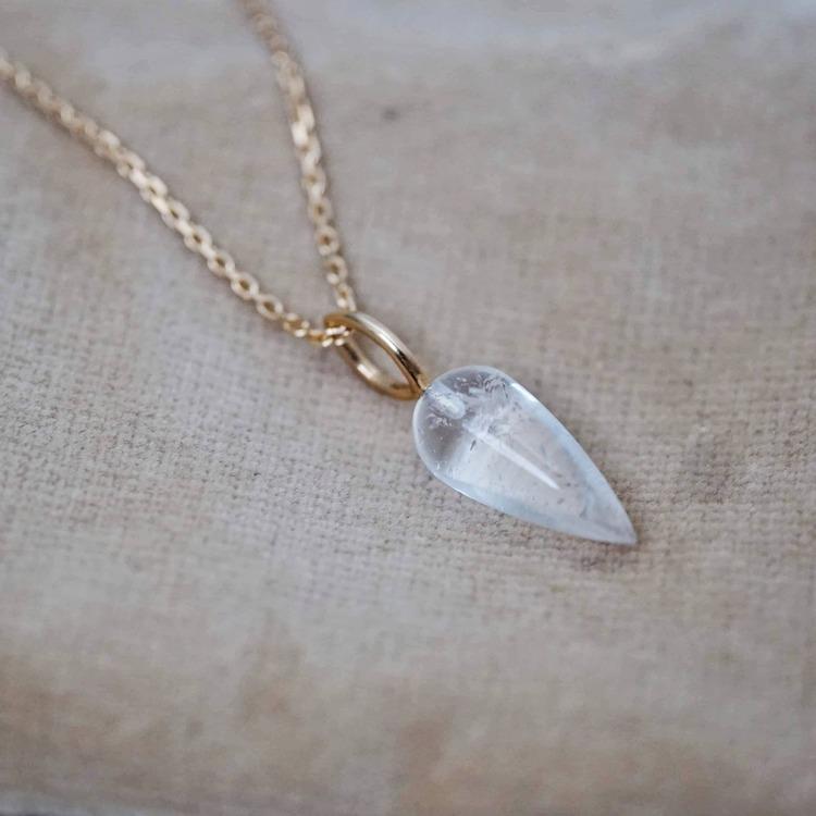 """Swedish Ice"" pendant in gold"