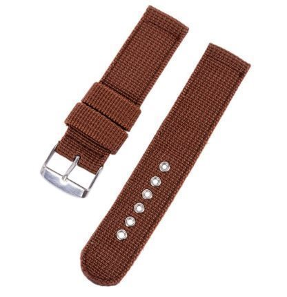 Brown two-piece nylon Nato straps 18mm 20mm 22mm 24mm