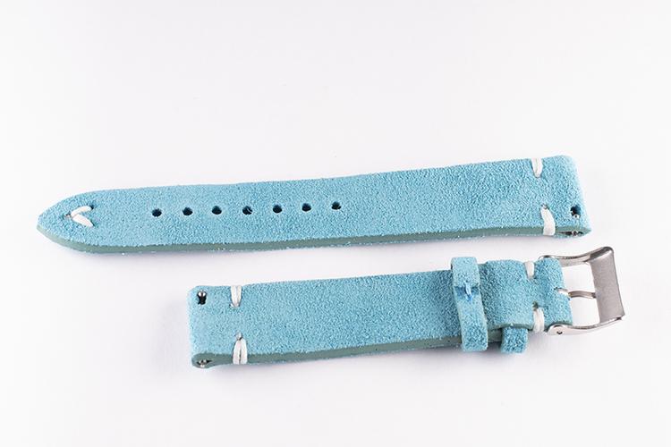 Klockarmband av turkos mocka / läder 18mm 20mm 22mm 24mm