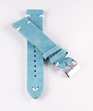 Klockarmband av turkos mocka / läder 12mm 18mm 20mm 22mm 24mm