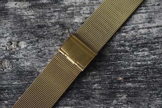 Guld mesh / milanese  klocklänk 18mm 20mm 22mm