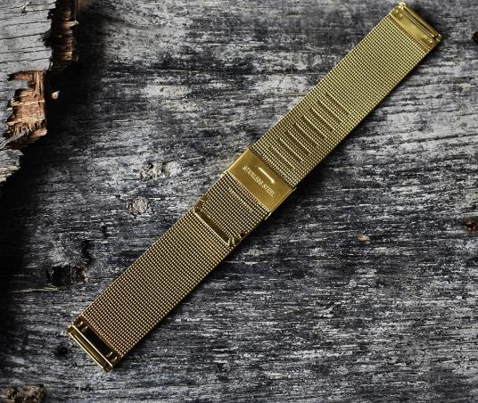Mesh / milanese guld klocklänk 18mm 20mm 22mm