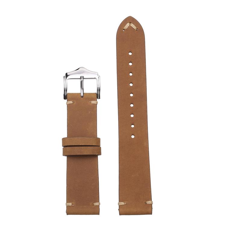 Vintage khaki klockarmband av läder