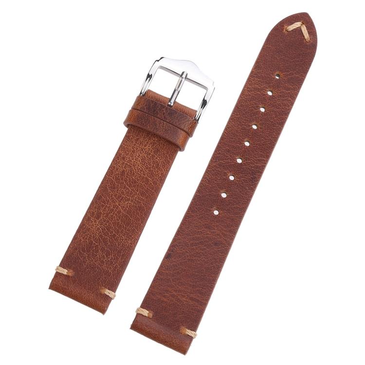 Brunt vintage klockarmband av läder