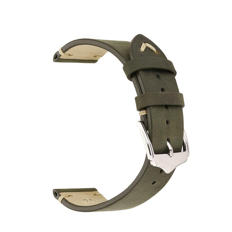 Grönt vintage klockarmband av läder 18mm 20mm 22mm