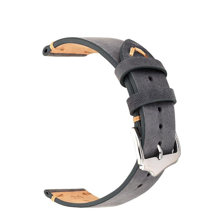 Grått vintage klockarmband av läder 18mm 20mm 22mm