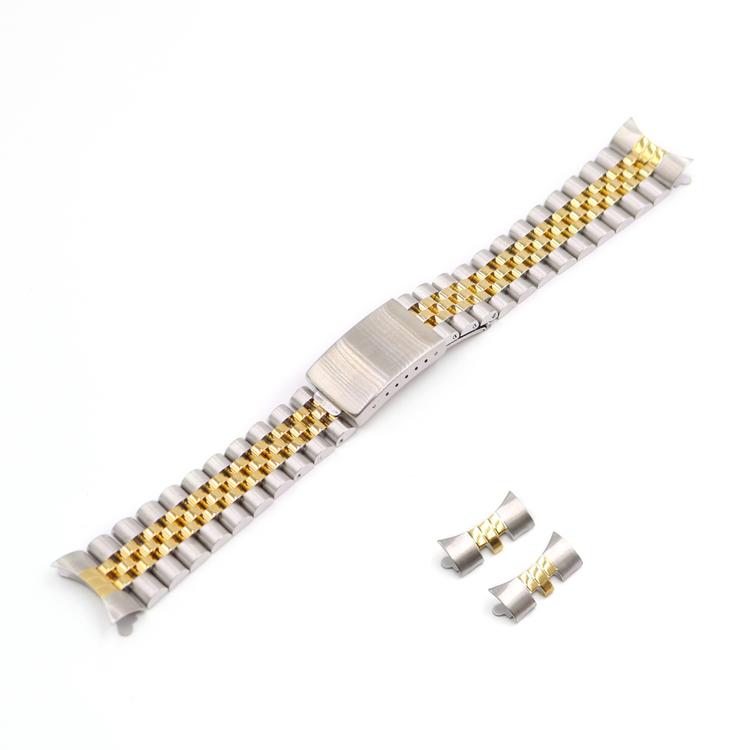 Jubileelänk two tone guld & silver 19mm 20mm 22mm