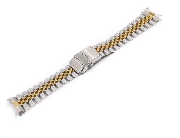 Jubilee twotone bracelet with double clasp 20mm 22mm