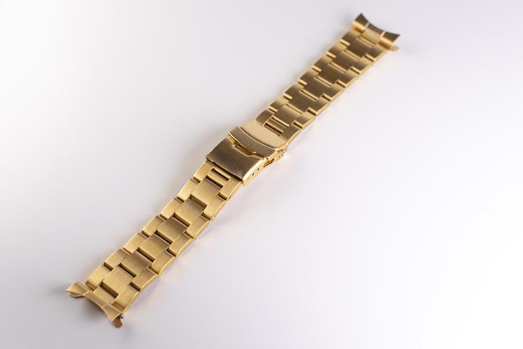 Oysterlänk med dubbelås guld 20mm 22mm