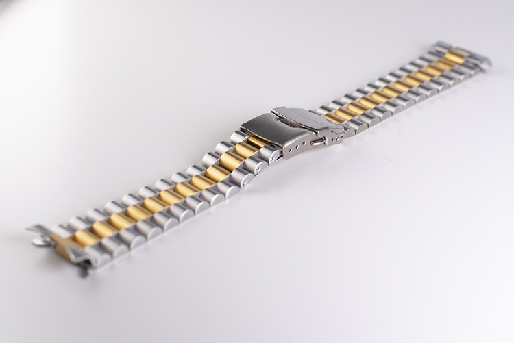 Oyster twotone bracelet with double clasp 20mm 22mm