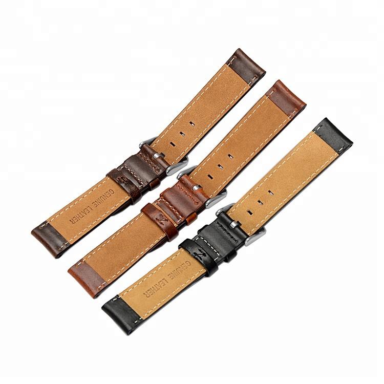 Mörkbrunt klassisk klockarmband av läder DW Daniel Wellington