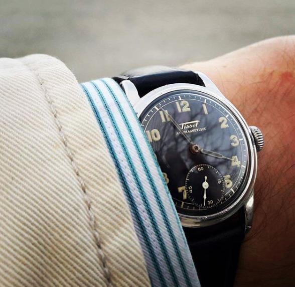 Svart klassisk klockarmband av läder DW Daniel Wellington