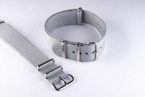 Grey Nato strap 18mm 20mm 22mm 24mm