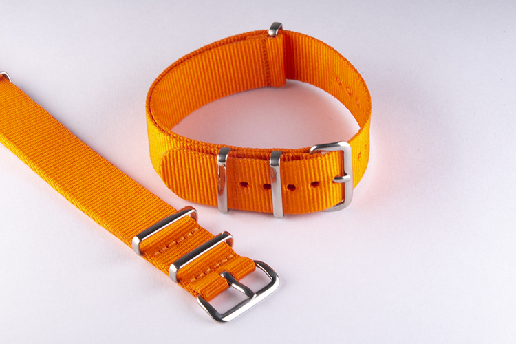 Orange nato klockarmband