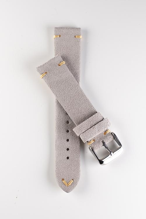 Premium klockarmband av beige / khaki mocka 18mm 20mm 22mm