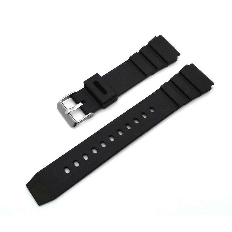 Flat Vent klockarmband av gummi 18mm 20mm 22mm