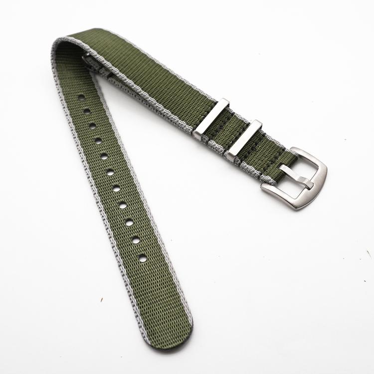 Seatbelt nato grön och grå 20mm 22mm